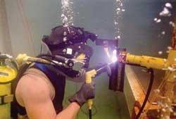 Underwater welding electrode
