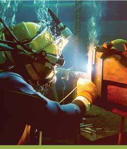 Underwater welding image