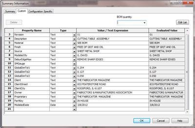 3 d cad bill of materials construction inproject documentation