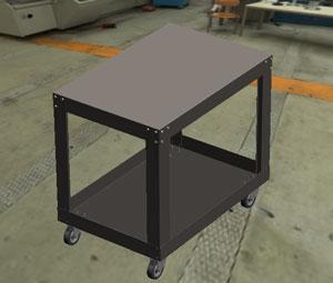 3-D CAD shop cart