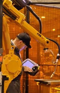 robotic cell operator robotic arm