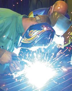 Arc welder welding