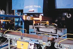 Servo driven press loader