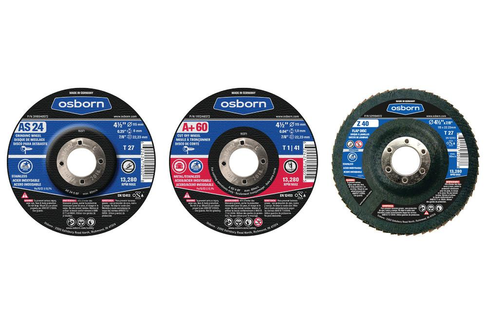 Center abrasive nylon disc