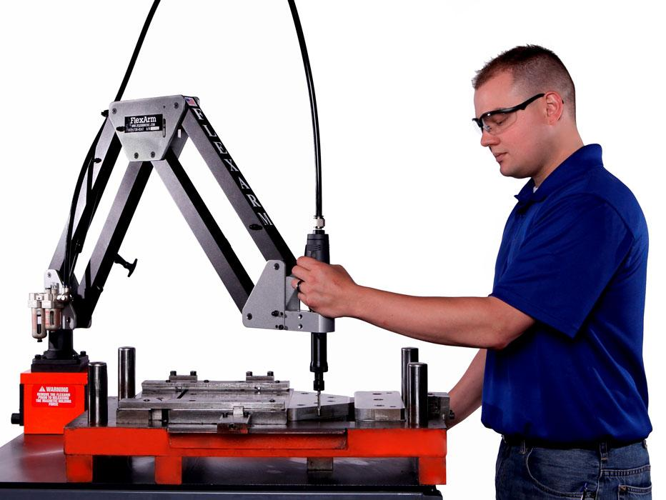 Accordion Articulated Arm : Articulating arm die grinder accelerates automaker s tool