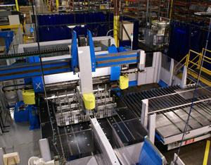 automated bending cell conveyor