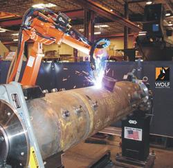 Robotic welding tube