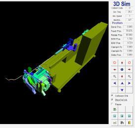 Simulating bend process