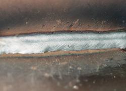 Closeup of metal cored wire
