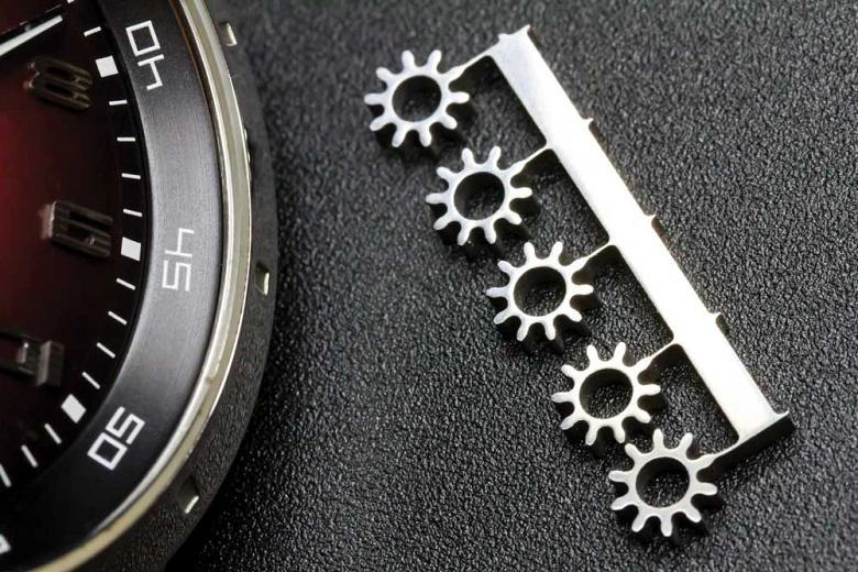 Waterjet small gear patterns