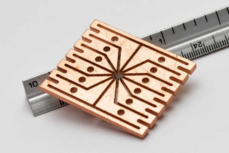 waterjet micronozzle cut part