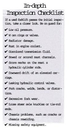 Forklift Inspection List