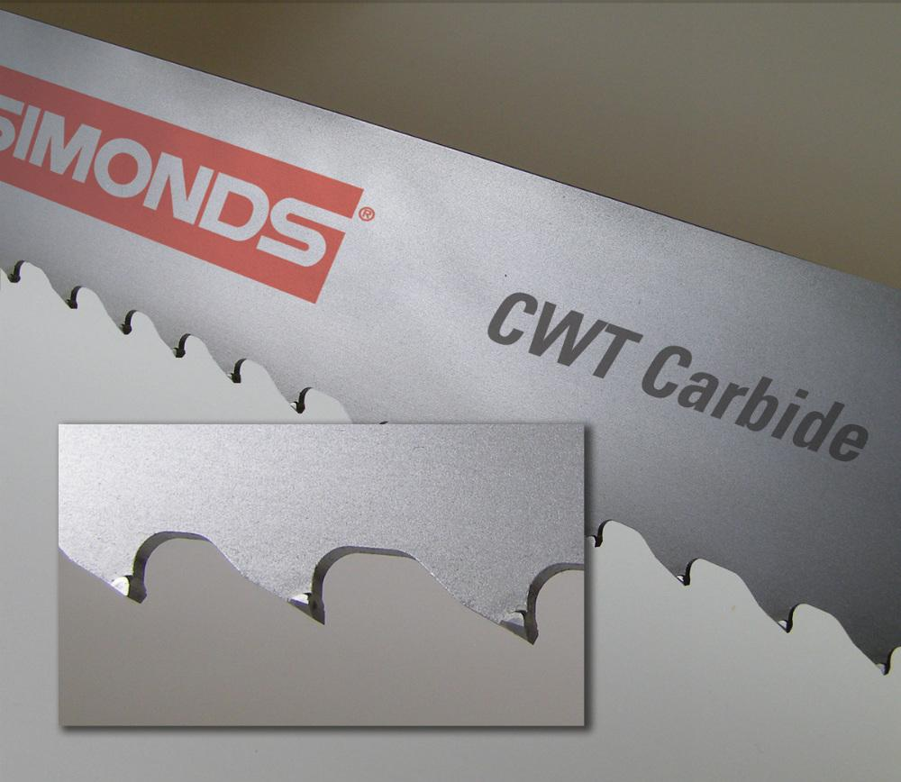 Carbide Tipped Band Saw Blades Offer Engineered Tooth Set
