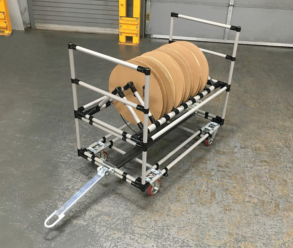 Cart can be custom-configured to hold reels, spools - The Fabricator