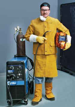 Protective welding clothes