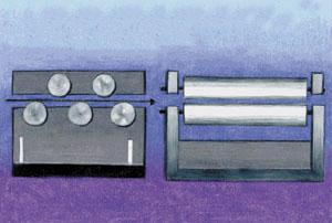 Spread center flatteners