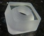 Waterjet glass materials