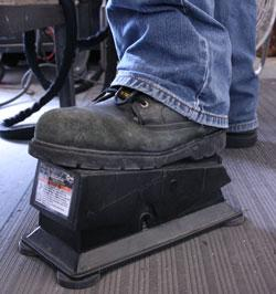 Welding control foot pedal