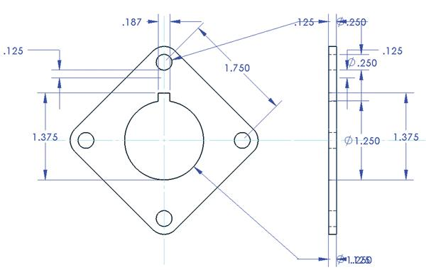 Dimensioning in a 3 d cad system the fabricator for Simple cad drawing online