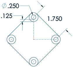 Precision molded dimensions figure 1
