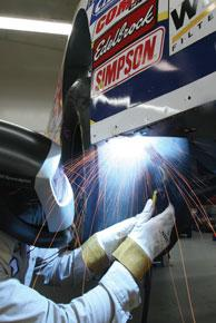 race car welding