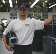 Roush welder Jon Moore