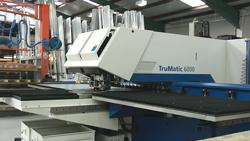 Laser cutting punching machine
