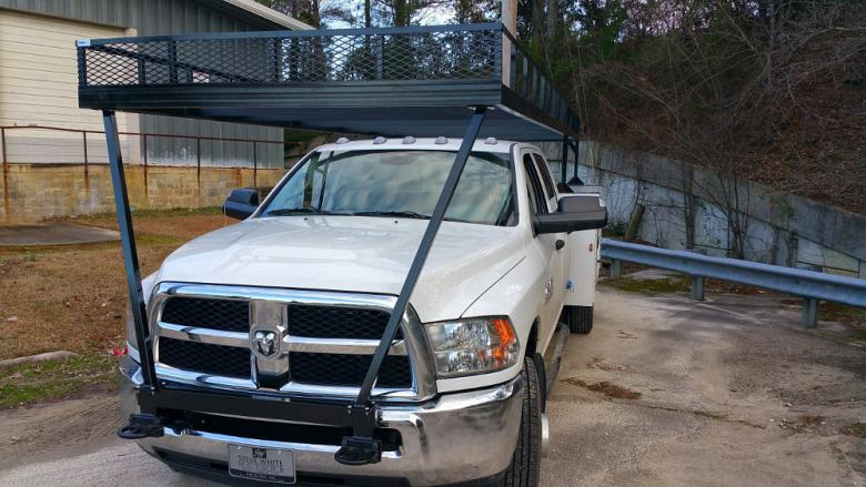 Hat rack for pickup truck