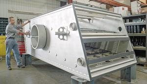 Lasercutting separator