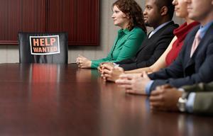 Office workers meeting