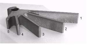 Abrasive waterjet cut part