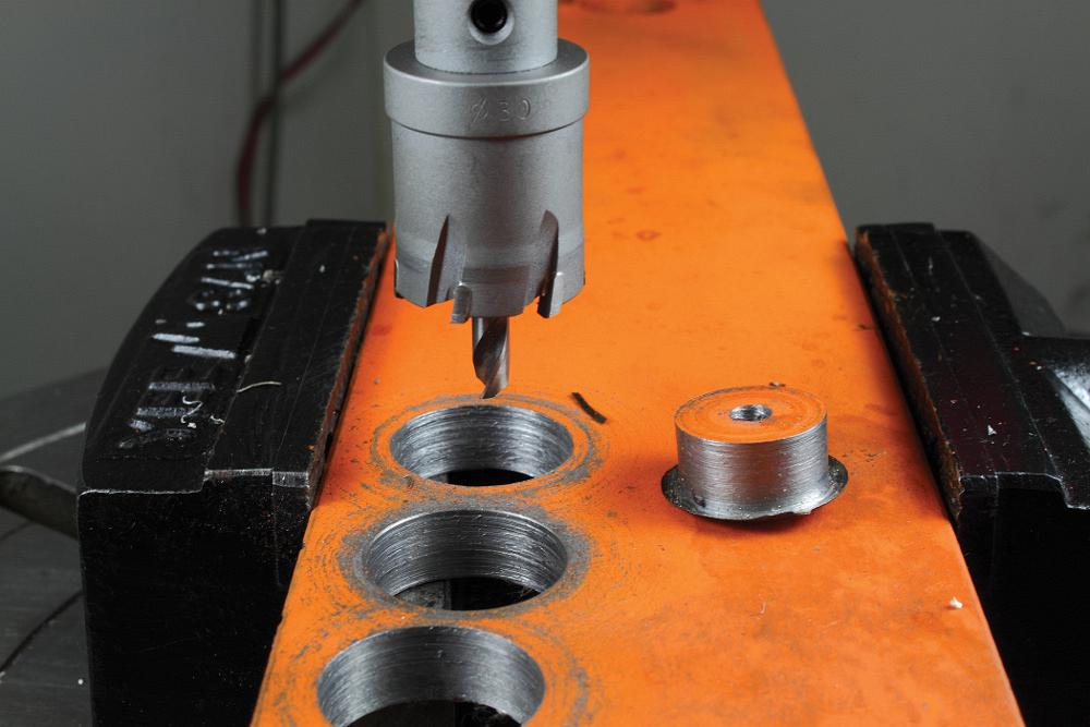 Hole Saws Allow Quick Clean Hand Drilling Of Metal The