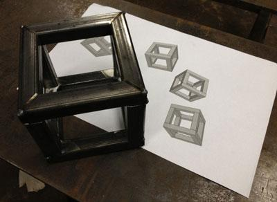 Metal fabricated cube