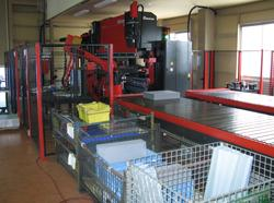 Robotic press brake conveyor