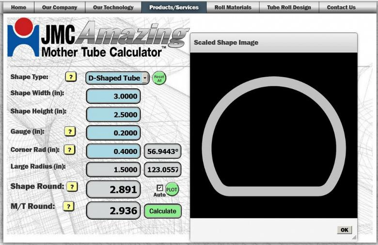 JMC Rollmasters upgrades Amazing Mother Tube Calculator