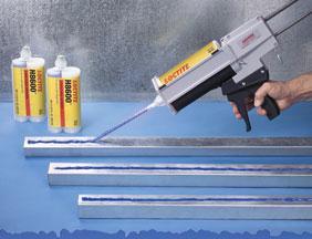 Metal adhesive applicator