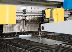 Folding machine closeup