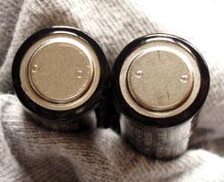 Spot welds battery component