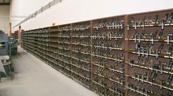Shop organized toolroom