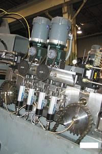 Coil feed line machine