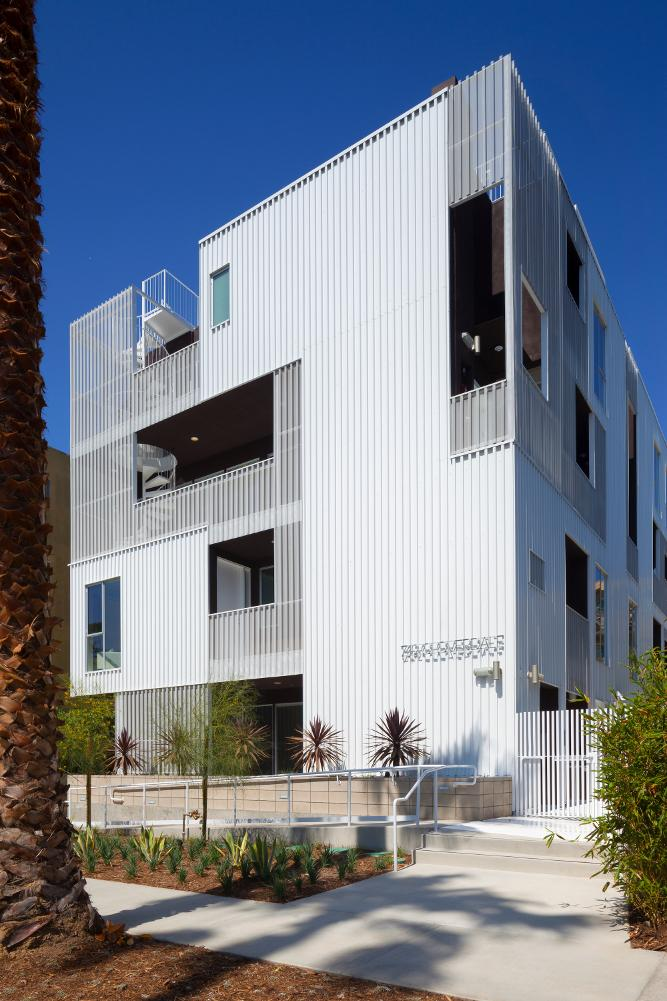metal wall panels clad condo building in los angeles the fabricator