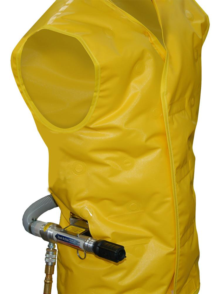 Air Cooling Vest : Personal air conditioning vest helps workers avoid heat