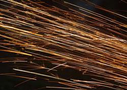 Welding sparks image