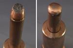 Deformed electrode