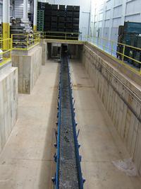 Underground scrap conveyor