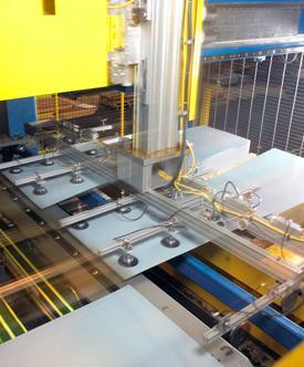laser blanking flexible stacker