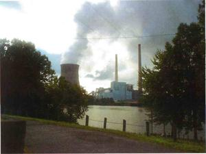 Energy Plant Steam Plume