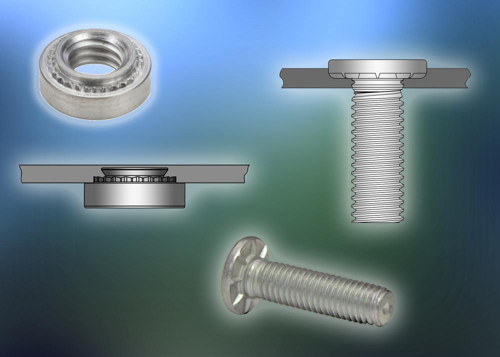 Self Clinching Nuts Studs Work In Hard Sheet Materials