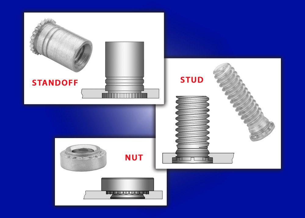 Self Clinching Threaded Fasteners Designed For Close To