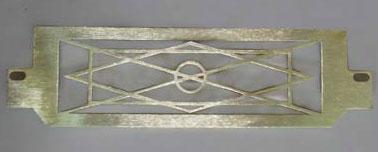 Laser cut brass